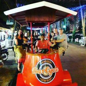 Bar bicycle tour Cambodia